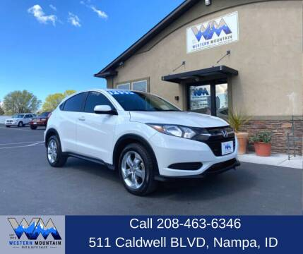 2016 Honda HR-V for sale at Western Mountain Bus & Auto Sales in Nampa ID