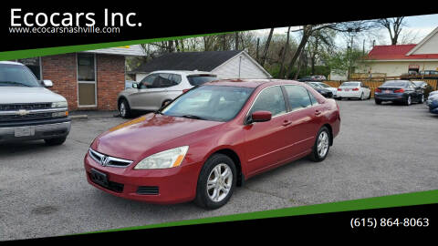 2007 Honda Accord for sale at Ecocars Inc. in Nashville TN