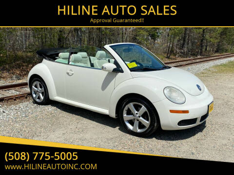 2007 Volkswagen New Beetle Convertible for sale at HILINE AUTO SALES in Hyannis MA