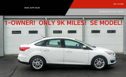 2015 Ford Focus for sale at Quail Auto Sales in Albany NY
