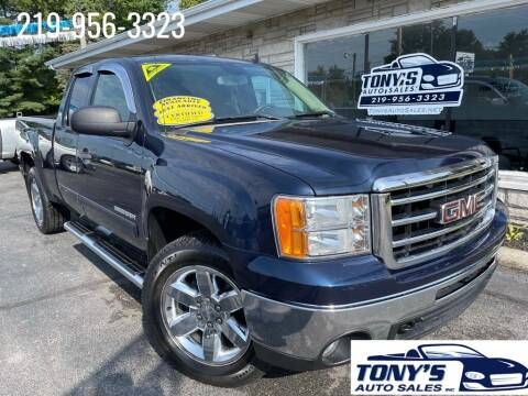 2012 GMC Sierra 1500 for sale at Tonys Auto Sales Inc in Wheatfield IN