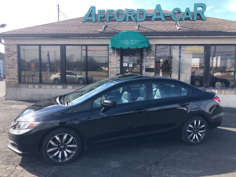 2015 Honda Civic for sale at Afford-A-Car in Moraine OH