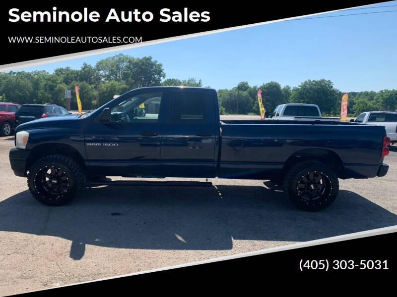 2007 Dodge Ram Pickup 1500 for sale at Seminole Auto Sales in Seminole OK