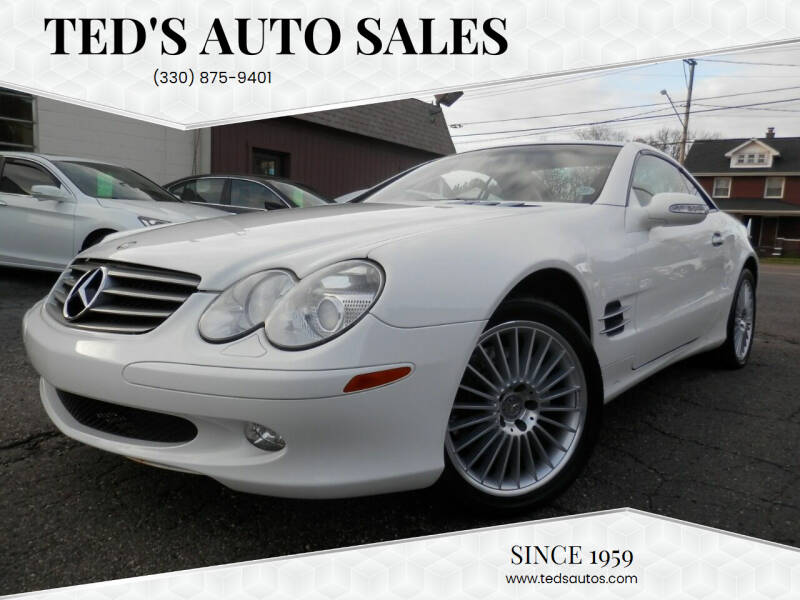 2003 Mercedes-Benz SL-Class for sale at Ted's Auto Sales in Louisville OH
