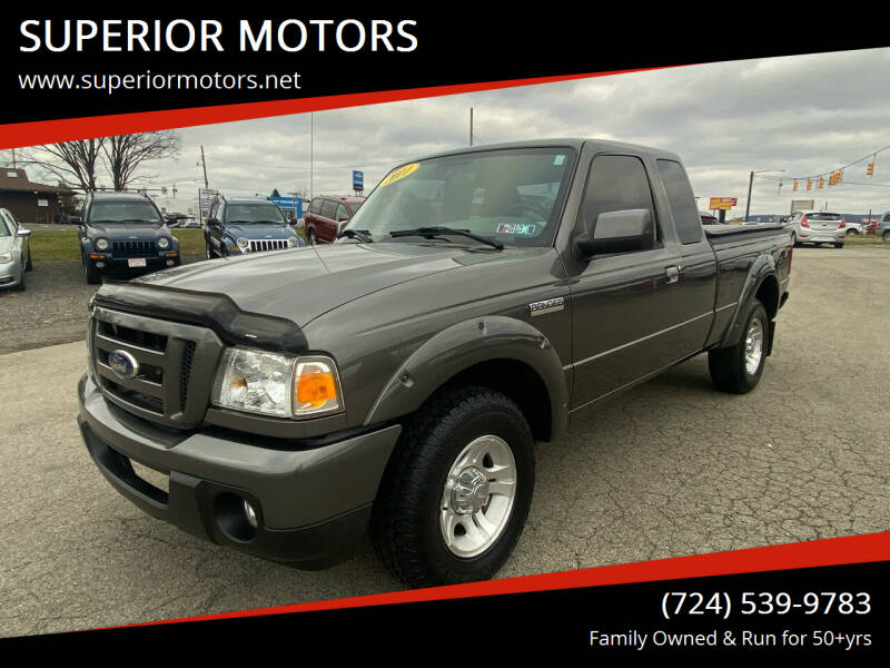 2011 Ford Ranger for sale at SUPERIOR MOTORS in Latrobe PA