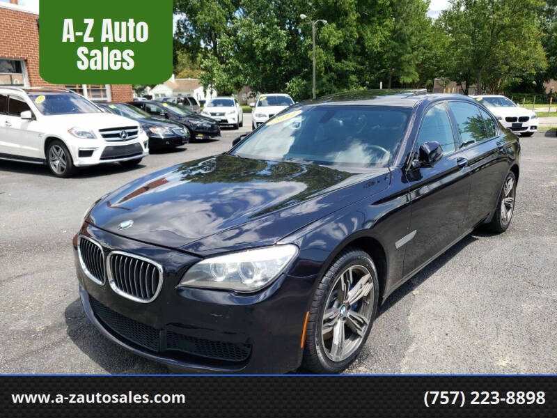 2014 BMW 7 Series for sale at A-Z Auto Sales in Newport News VA