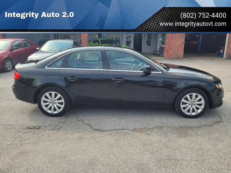 2011 Audi A4 for sale at Integrity Auto 2.0 in Saint Albans VT