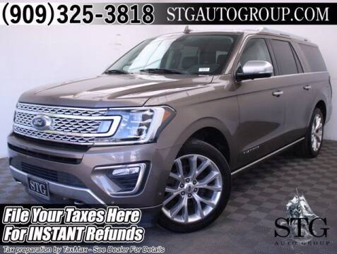 2018 Ford Expedition MAX for sale at STG Auto Group in Montclair CA