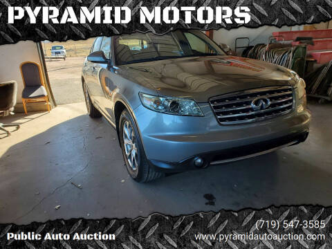 2007 Infiniti FX35 for sale at PYRAMID MOTORS - Pueblo Lot in Pueblo CO