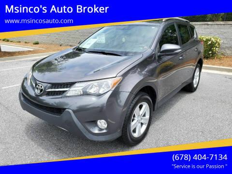 2013 Toyota RAV4 for sale at Msinco's Auto Broker in Snellville GA