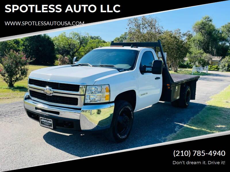 2009 Chevrolet Silverado 3500HD CC for sale at SPOTLESS AUTO LLC in San Antonio TX