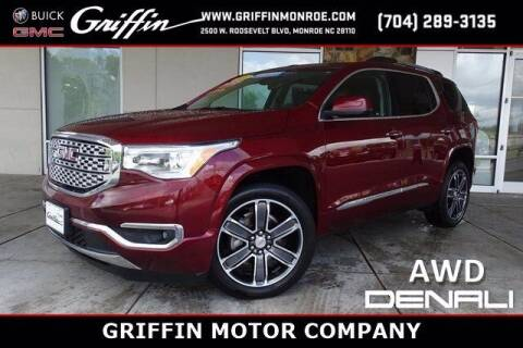 2018 GMC Acadia for sale at Griffin Buick GMC in Monroe NC