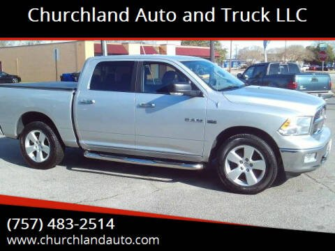 2010 Dodge Ram Pickup 1500 for sale at Churchland Auto and Truck LLC in Portsmouth VA