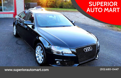 2011 Audi A4 for sale at SUPERIOR AUTO MART in Amelia OH