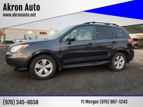 2014 Subaru Forester for sale at Akron Auto - Fort Morgan in Fort Morgan CO