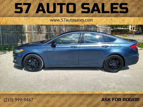 2019 Ford Fusion for sale at 57 Auto Sales in San Antonio TX