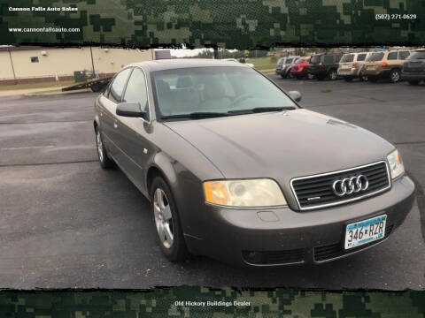 2002 Audi A6 for sale at Cannon Falls Auto Sales in Cannon Falls MN