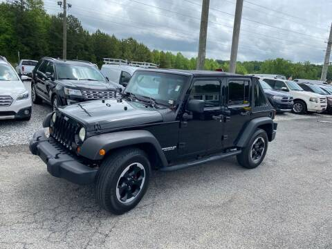 2009 Jeep Wrangler Unlimited for sale at Billy Ballew Motorsports in Dawsonville GA