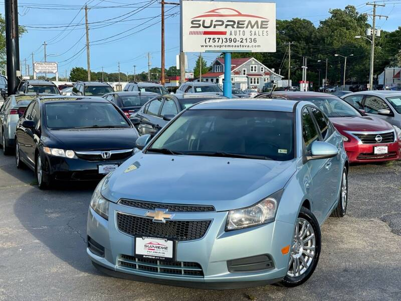 2012 Chevrolet Cruze for sale at Supreme Auto Sales in Chesapeake VA