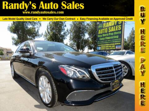2017 Mercedes-Benz E-Class for sale at Randy's Auto Sales in Ontario CA