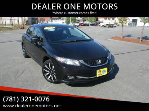 2014 Honda Civic for sale at DEALER ONE MOTORS in Malden MA