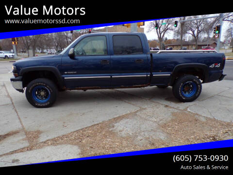 2002 Chevrolet Silverado 1500HD for sale at Value Motors in Watertown SD
