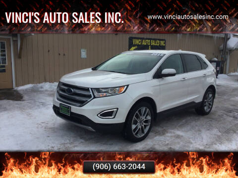 2015 Ford Edge for sale at Vinci's Auto Sales Inc. in Bessemer MI