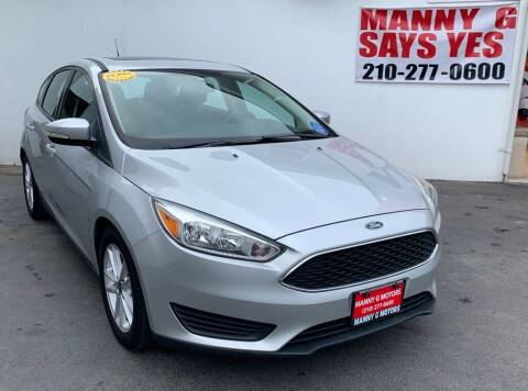 2015 Ford Focus for sale at Manny G Motors in San Antonio TX