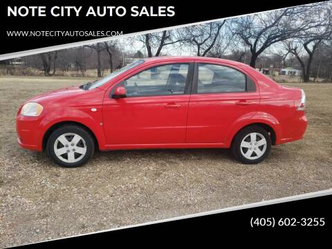 2007 Chevrolet Aveo for sale at NOTE CITY AUTO SALES in Oklahoma City OK