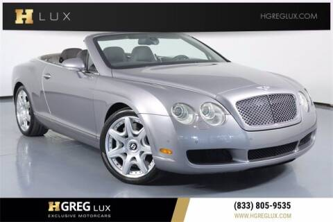 2008 Bentley Continental for sale at HGREG LUX EXCLUSIVE MOTORCARS in Pompano Beach FL