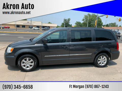 2012 Chrysler Town and Country for sale at Akron Auto - Fort Morgan in Fort Morgan CO