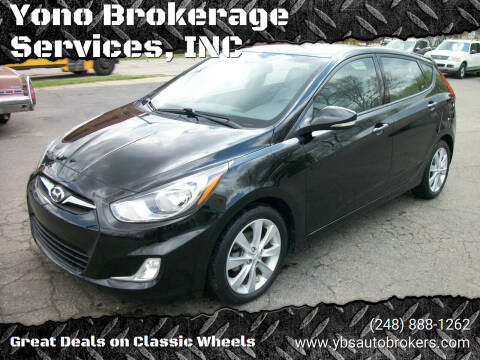 2013 Hyundai Accent for sale at Yono Brokerage Services, INC in Farmington MI