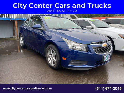 2012 Chevrolet Cruze for sale at City Center Cars and Trucks in Roseburg OR
