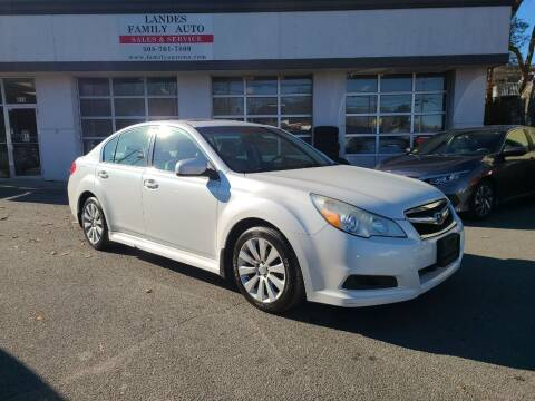 2011 Subaru Legacy for sale at Landes Family Auto Sales in Attleboro MA