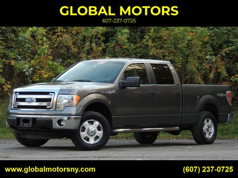 2014 Ford F-150 for sale at GLOBAL MOTORS in Binghamton NY