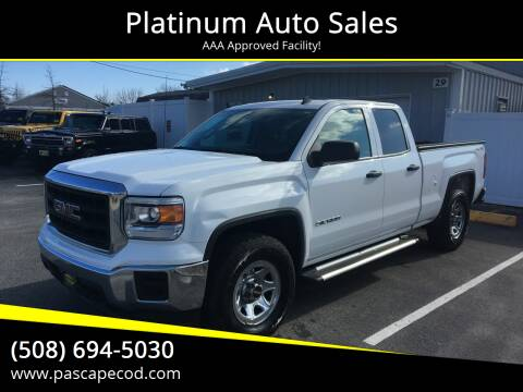 2014 GMC Sierra 1500 for sale at Platinum Auto Sales in South Yarmouth MA