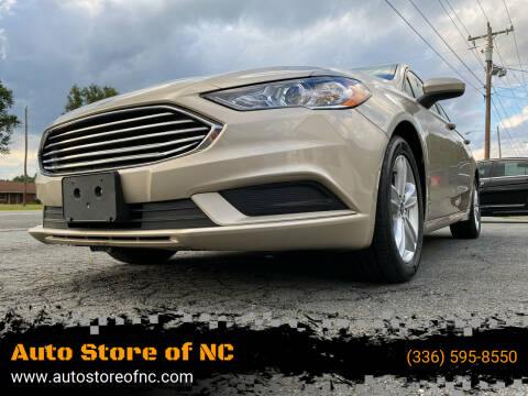 2018 Ford Fusion for sale at Auto Store of NC in Walkertown NC