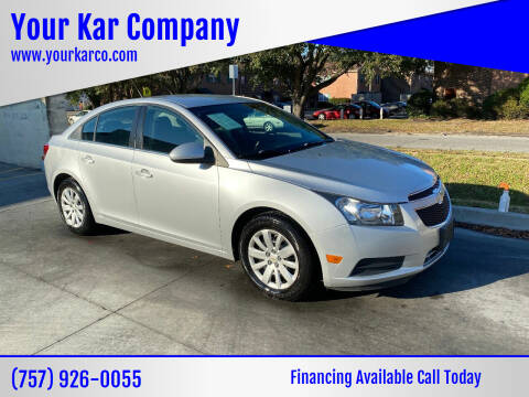 2011 Chevrolet Cruze for sale at Your Kar Company in Norfolk VA