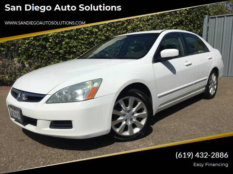 2006 Honda Accord for sale at San Diego Auto Solutions in Escondido CA