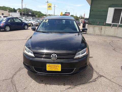 2013 Volkswagen Jetta for sale at Brothers Used Cars Inc in Sioux City IA