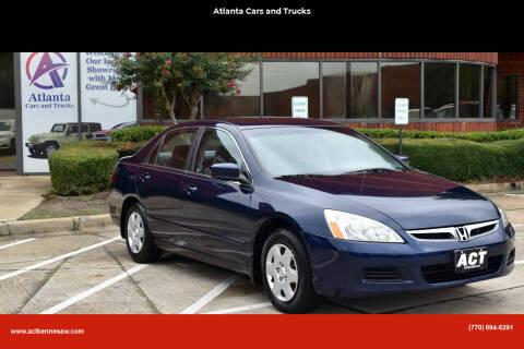 2006 Honda Accord for sale at Atlanta Cars and Trucks in Kennesaw GA