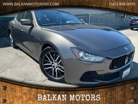 2014 Maserati Ghibli for sale at BALKAN MOTORS in East Rochester NY