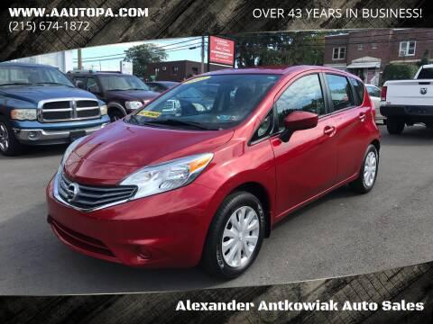2015 Nissan Versa Note for sale at Alexander Antkowiak Auto Sales in Hatboro PA