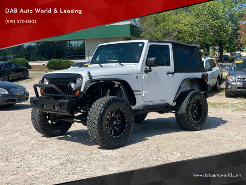 2013 Jeep Wrangler for sale at DAB Auto World & Leasing in Wake Forest NC