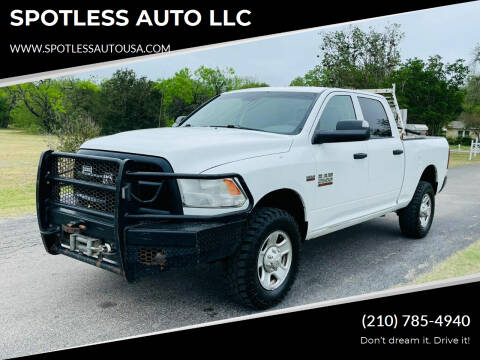 2014 RAM Ram Pickup 2500 for sale at SPOTLESS AUTO LLC in San Antonio TX