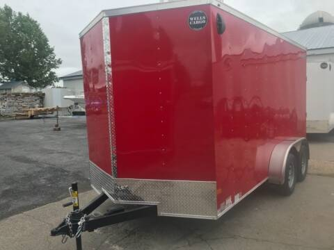 2021 Wells Cargo 7x14 Tandem Axle V-Nose for sale at Forkey Auto & Trailer Sales in La Fargeville NY