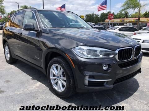 2014 BMW X5 for sale at AUTO CLUB OF MIAMI in Miami FL
