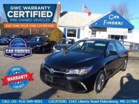 2017 Toyota Camry for sale at CAR FINDERS OF MARYLAND LLC in Eldersburg MD