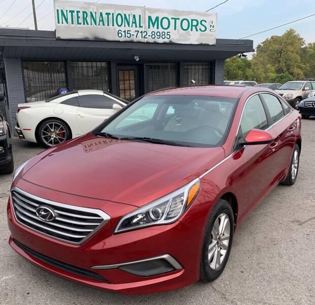 2016 Hyundai Sonata for sale at International Motors Inc. in Nashville TN