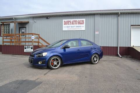 2013 Chevrolet Sonic for sale at Dave's Auto Sales in Winthrop MN